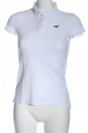 Hollister Polo shirt wit casual uitstraling
