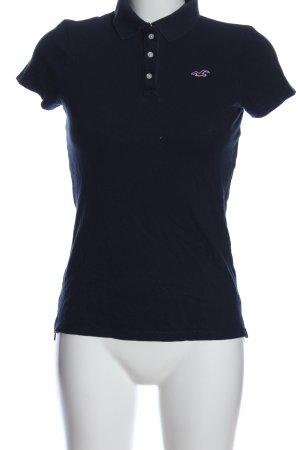 Hollister Polo-Shirt schwarz Casual-Look