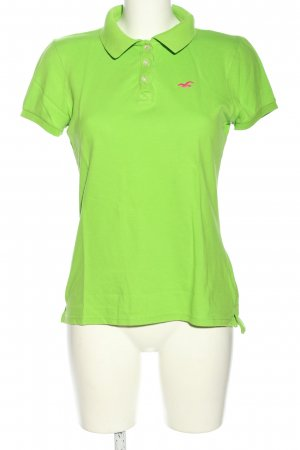 Hollister Camiseta tipo polo verde look casual