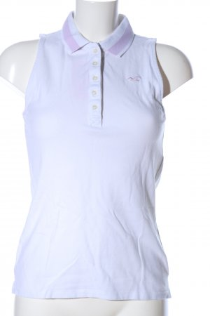 Hollister Polo Top weiß Casual-Look