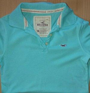 Hollister Poloshirt, Gr. M, Damen, Türkis, Stretch