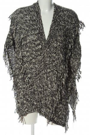 Hollister Poncho negro-blanco look casual