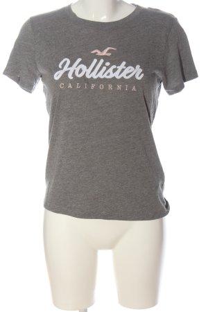 Hollister Print-Shirt hellgrau meliert Casual-Look
