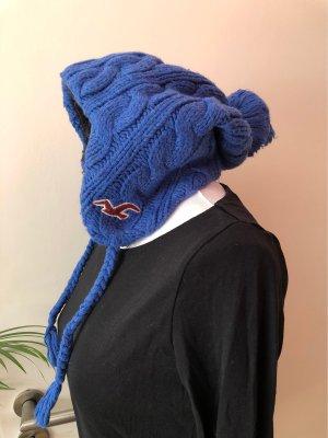 Hollister Gorro con borla marrón oscuro-azul