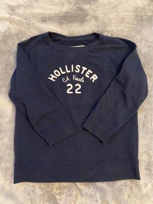 Hollister Jersey de cuello redondo blanco-azul oscuro