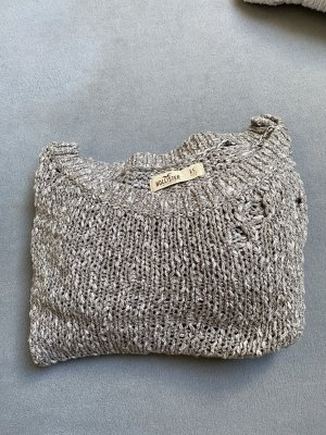 Hollister Coarse Knitted Sweater grey-silver-colored
