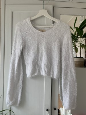 Hollister Pull polaire blanc
