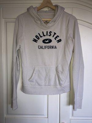 Hollister Pull à capuche blanc-bleu foncé