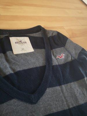 Hollister Pullover Grau Blau Xs 34 neuwertig