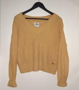 Hollister Pullover mit V-Ausschnitt in Gelb