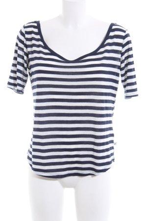 Hollister Ringelshirt blau-weiß Streifenmuster Casual-Look