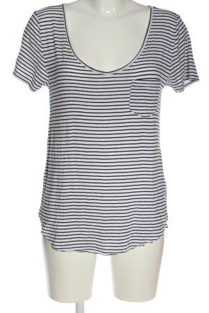Hollister Camisa de rayas blanco-negro look casual