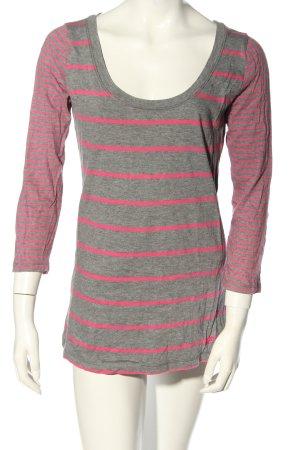 Hollister T-shirt rayé gris clair-rose moucheté style décontracté