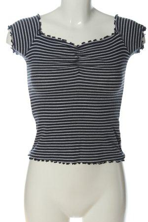 Hollister Ringelshirt schwarz-weiß Streifenmuster Casual-Look