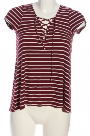 Hollister Stripe Shirt red-white striped pattern casual look