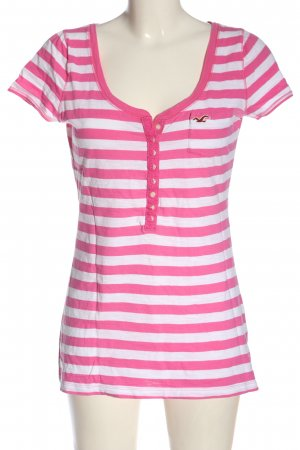 Hollister Stripe Shirt pink-white striped pattern casual look
