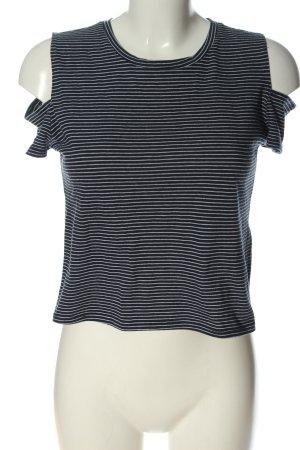 Hollister T-shirt rayé noir-blanc motif rayé style décontracté