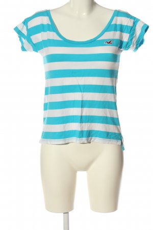 Hollister Stripe Shirt light grey-blue striped pattern casual look
