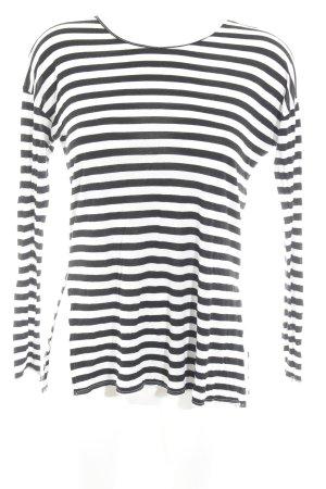 Hollister Ringelshirt schwarz-wollweiß Casual-Look