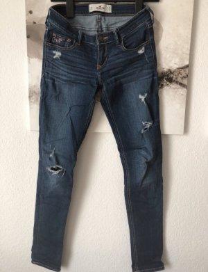 Hollister Wortel jeans donkerblauw