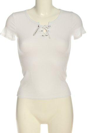 Hollister Camisa acanalada blanco estampado a rayas elegante