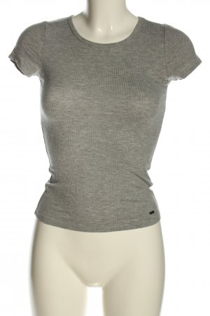 Hollister Ribbed Shirt light grey flecked casual look