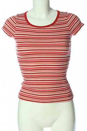 Hollister Ribbed Shirt red-natural white allover print casual look