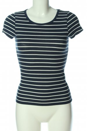 Hollister Ribbed Shirt blue-white striped pattern casual look