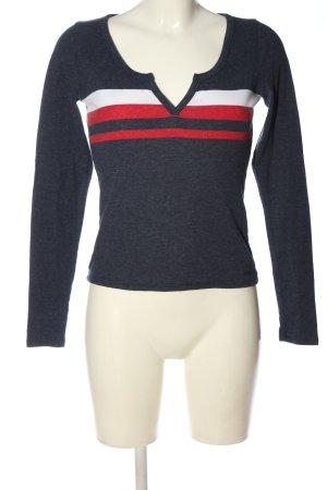 Hollister Geribd shirt gestippeld casual uitstraling
