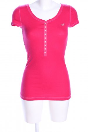 Hollister Camicia a coste rosa stile casual