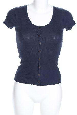Hollister Prążkowana koszulka niebieski W stylu casual