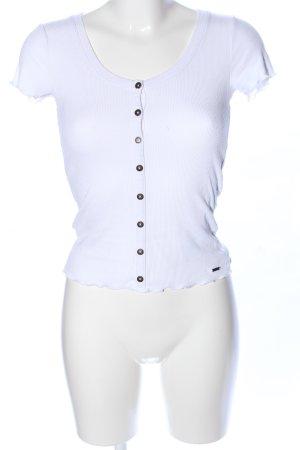 Hollister Camisa acanalada blanco look casual