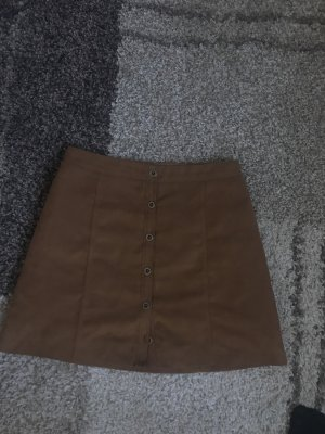 Hollister Leather Skirt bronze-colored