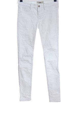 Hollister Jeans cigarette blanc style décontracté