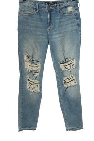 Hollister Jeans cigarette bleu style décontracté