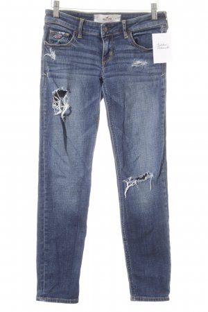 Hollister Tube Jeans blue flecked casual look