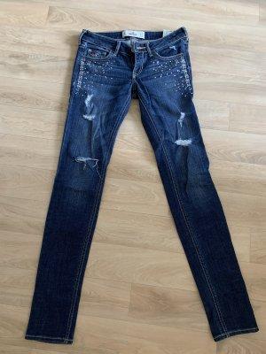 Hollister Tube Jeans dark blue