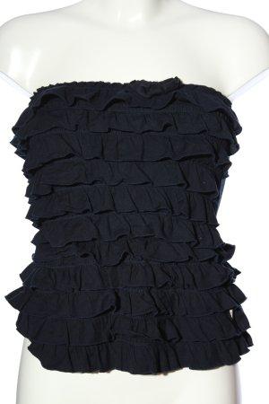 Hollister Rüschen-Bluse schwarz Elegant