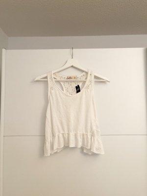 Hollister Podkoszulek na ramiączkach biały-jasnobeżowy