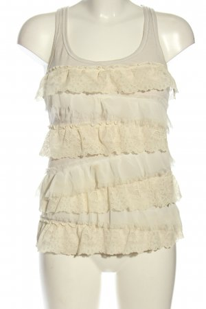 Hollister Frill Top natural white casual look