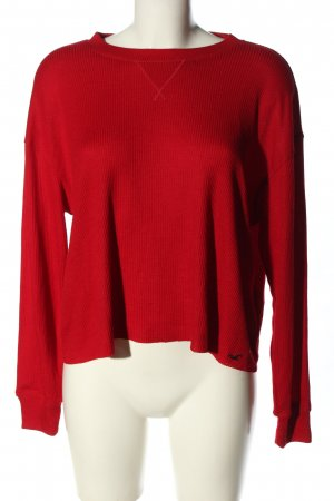 Hollister Rundhalspullover rot Casual-Look