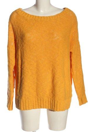 Hollister Pull ras du cou orange clair style décontracté