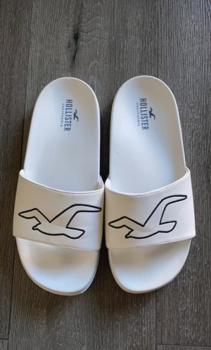 Hollister Sandały plażowe biały-ciemnoniebieski