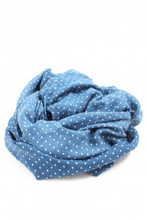 Hollister Tube Scarf blue-white spot pattern casual look