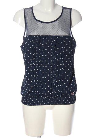 Hollister Schlupf-Bluse blau-weiß Punktemuster Casual-Look