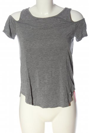 Hollister Cut Out Top light grey flecked casual look