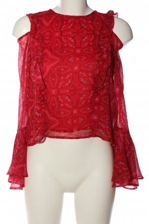 Hollister Schlupf-Bluse abstraktes Muster Casual-Look
