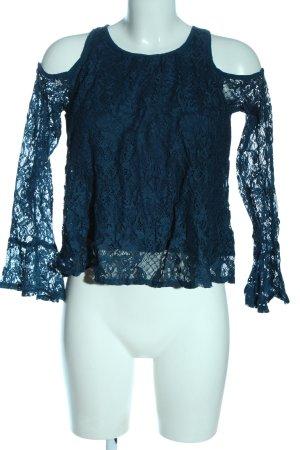 Hollister Schlupf-Bluse blau Business-Look