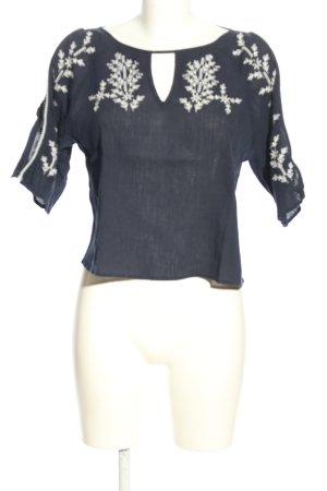 Hollister Schlupf-Bluse schwarz-weiß Casual-Look
