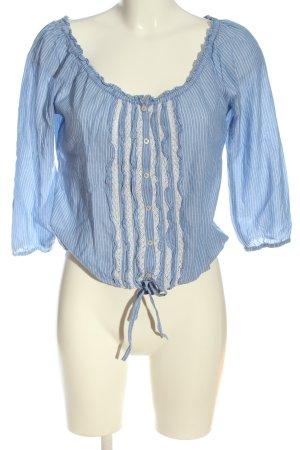 Hollister Schlupf-Bluse blau-weiß Streifenmuster Elegant